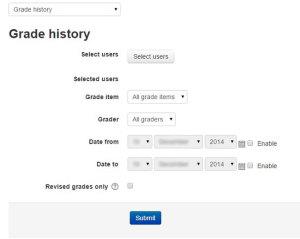 Moodle Grade History