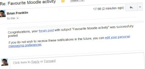 Moodle reply by email